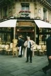 "Delante del Café ""Les Deux Magots"""